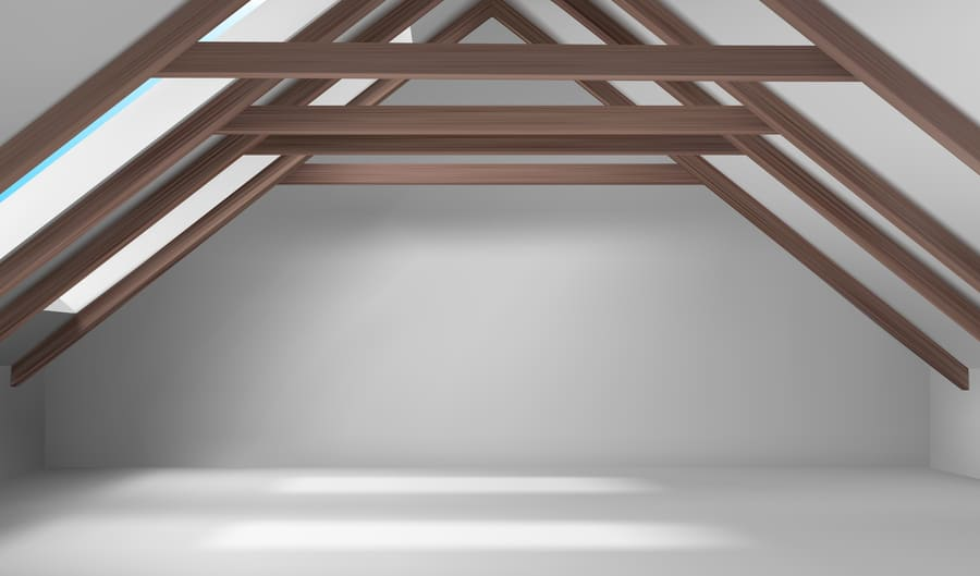 wooden ceiling beams