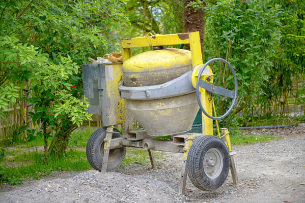 What is a concrete mixer used for